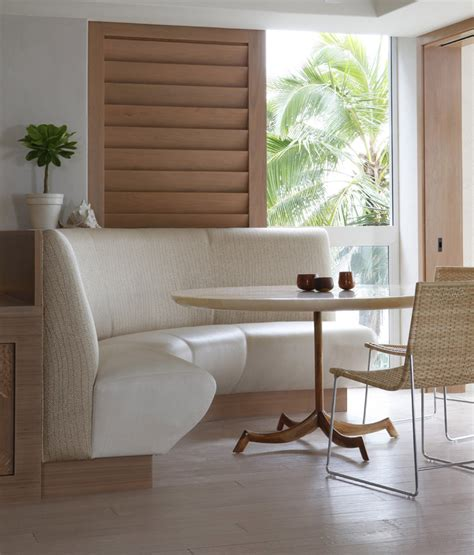 breakfast banquette banquette seating for sale dining room tropical with