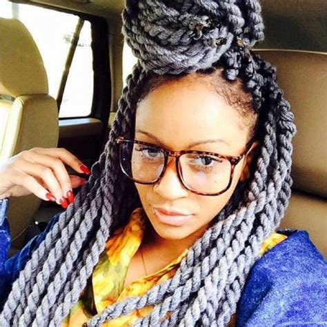 gray twist hairstyles grey havana twist braids locs twist pinterest twists