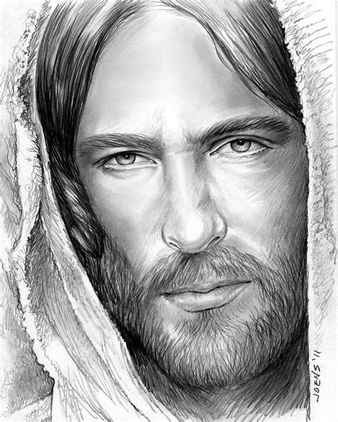 Black And White Drawings Of Jesus by Jesus Drawing By Greg Joens