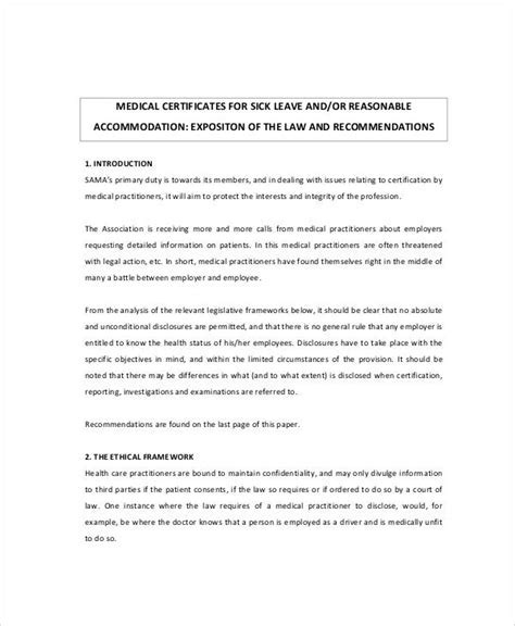 Doctor certificate for sick leave template un mission resume sample medical certificate for sick leave 6 examples in yadclub Image collections