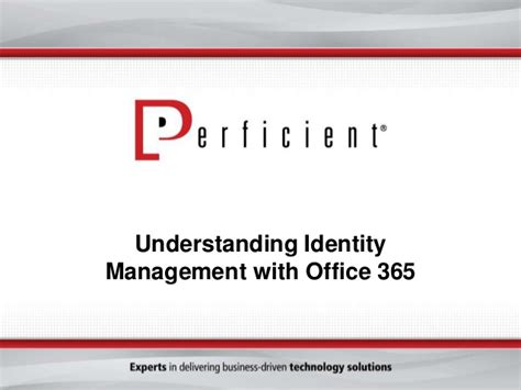 id馥 am駭agement bureau office 365 identity management options slideshare
