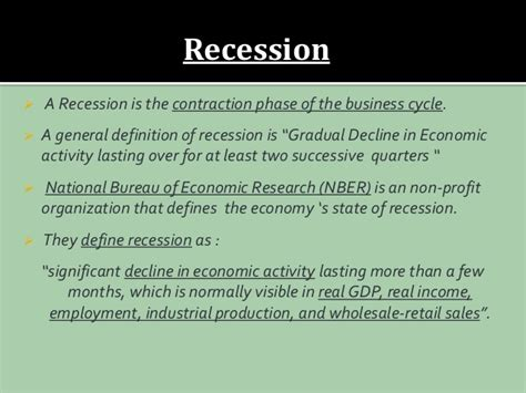 receding definition receding definition inflation and recession