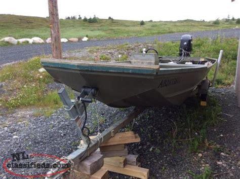 lund boats newfoundland 18 ft lund jon boat motor trailer sunnyside