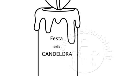 candela della candelora disegni da colorare mamma e bambini