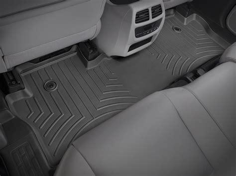 weathertech floor mats floorliner for honda pilot elite 2016 2017 black ebay