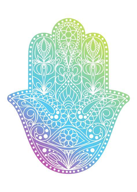 hand drawn hamsa symbol hand  fatima ethnic amulet