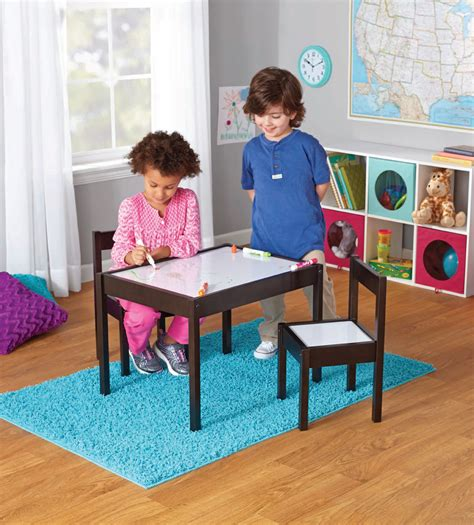 mainstays kids  piece dry erase table  chairs set
