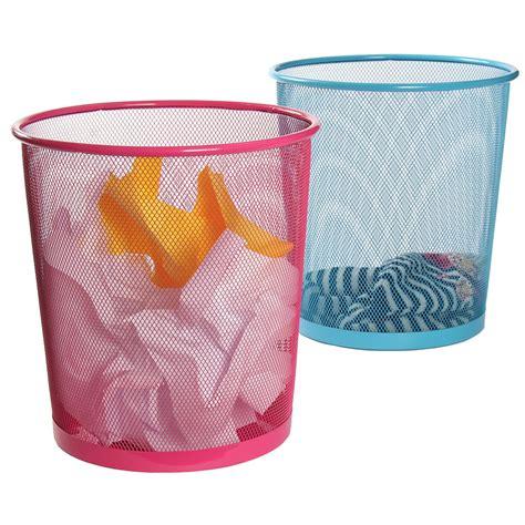 poubelle bureau enfant corbeille 224 papier maille m 233 tal turquoise