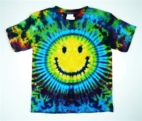 smiley tie dye shirt sizes eco friendly dyeing