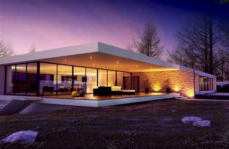 casa minimalista moderna  foto  ville da sogno