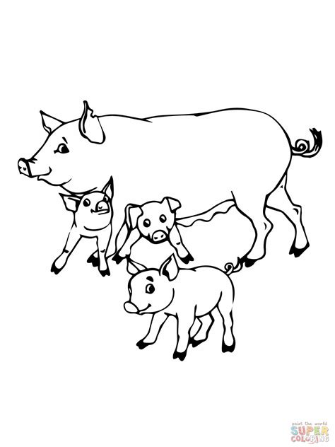 Coloring Page Of A Pig Free Coloring Pages Of Hog by Coloring Page Of A Pig