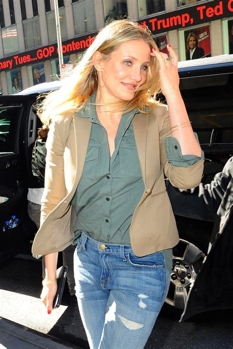 Cameron Diazs New by Cameron Diaz Looking Stylish Arriving At Z100 In New