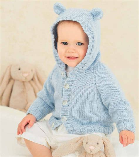 knitting pattern baby sweater with hood knitting pattern for baby cardigan with hood and ears