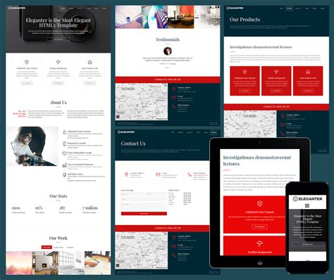 responsive design templates responsive website templates free for business