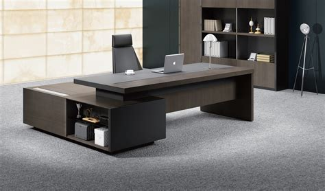 office table designs stylish larry office table in wood leather boss s cabin