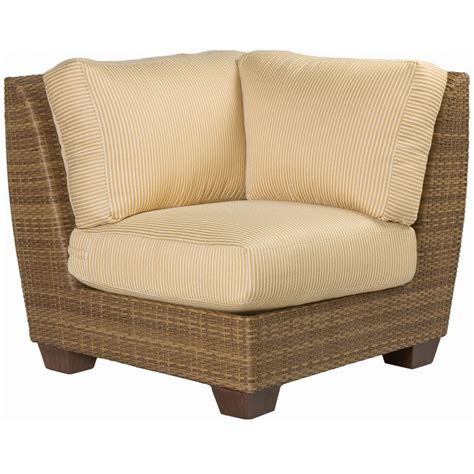 Saddleback Patio Furniture by Woodard Saddleback Corner Wicker Sectional Chair S523051
