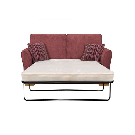 Plum Sofa Bed 2 Seater Sofa Bed With Deluxe Mattress In Plum