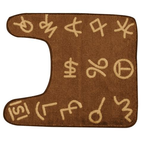 Western Bathroom Rugs Cowboy Brands Contour Bathroom Rug