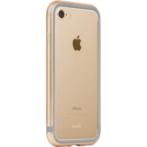 Iphone 7 B by Moshi Luxe Metal Bumper For Iphone 7 Gold 99mo088253 B H