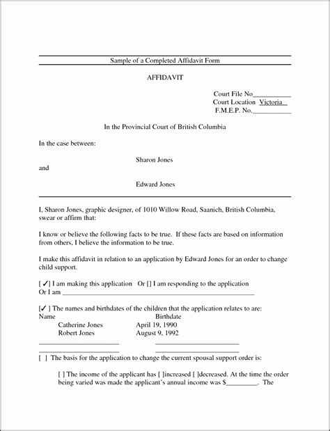 6 Affidavit Form Templates Sletemplatess Sletemplatess Free Affidavit Template