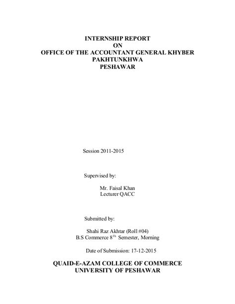 report title page sle title pages for internship report