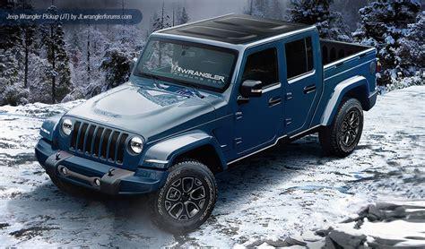 jeep wrangler dual cab ute renderings loaded