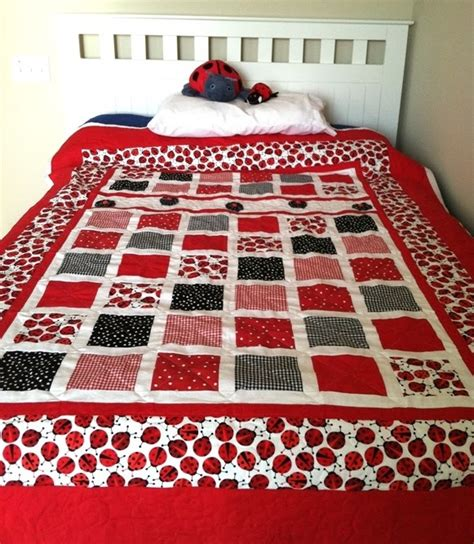 Ladybug Quilt by Butterfly Stitches Ladybug Quilt Is Finished
