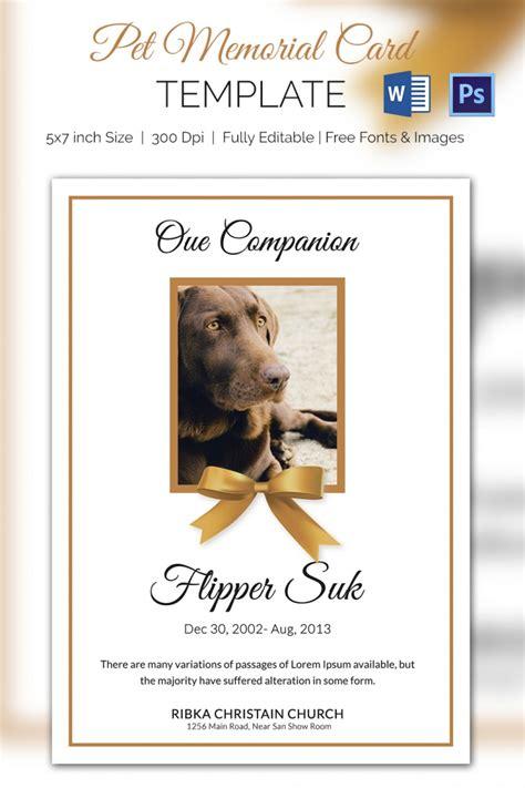 pet card templates 5 pet memorial card templates free word pdf psd