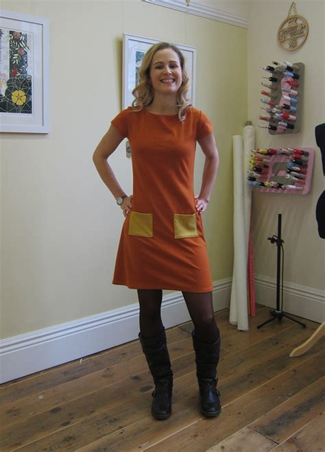 1 Coco Dress completed coco paprika dress in knitted fabric guthrie