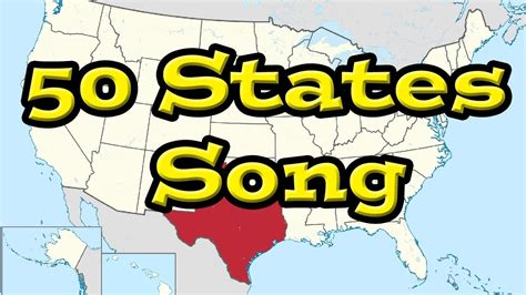 all fifty states the 50 states song all 50 of the united states youtube