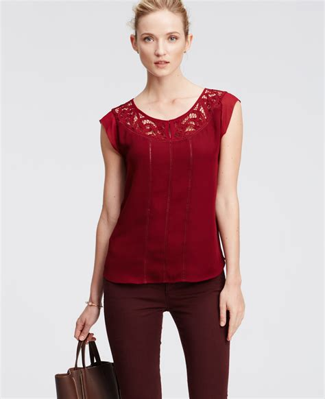 Lacy Sleeve Blouse by Lacy Cap Sleeve Blouse In Lyst