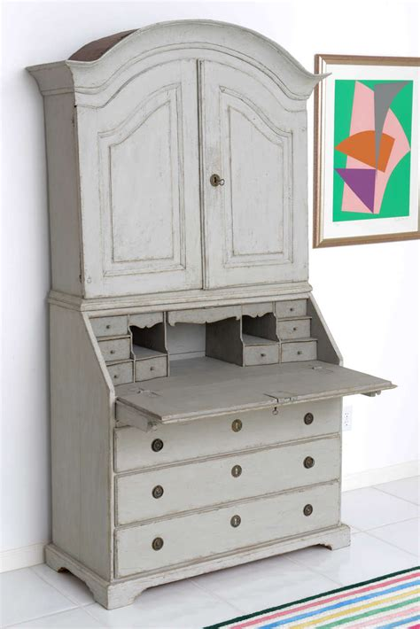 swedish painted furniture antique swedish painted baroque sectetary at 1stdibs