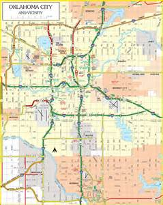 oklahoma city map free printable maps