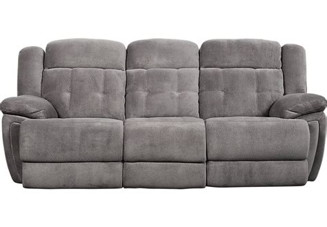 Gray Reclining Sofa Normandy Gray Power Reclining Sofa Reclining Sofas Gray
