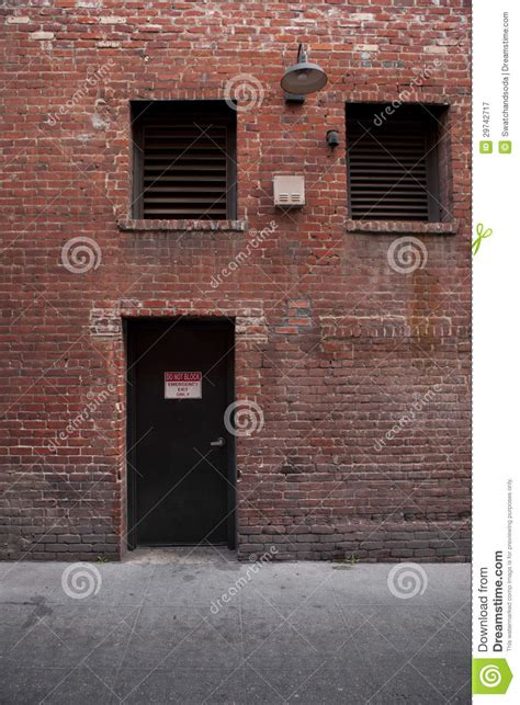 secrets of a back alley id id construction techniques of the underground books alley entrance backside of brick building royalty free