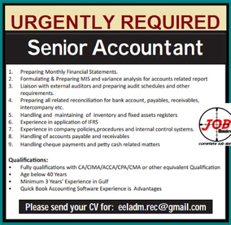 Infopark For Mba Freshers by Accountant Vacancy Jobhunferfb