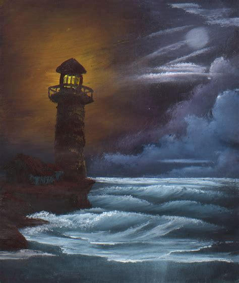 bob ross painting lighthouse lighthouse at by darkqiviut on deviantart