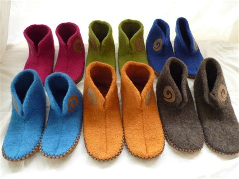Handmade S - handmade felted slippers children s sizes felt