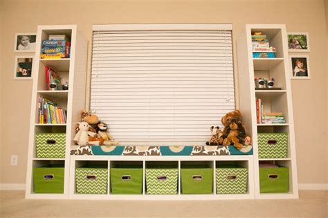 ikea playroom storage bench playroom seating bench part 2 using expedite shelves from