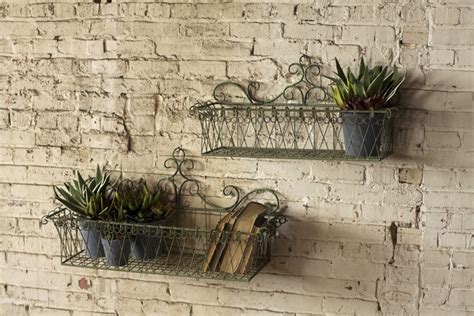Wire Wall Planter by S 2 Wire Wall Planters 128 00 Bathroom Ideas