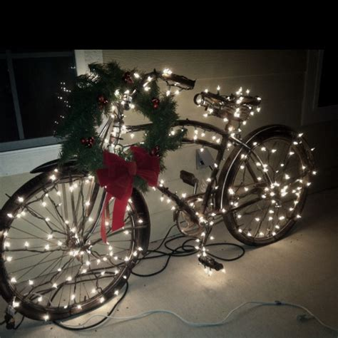 1930 s bicycle in christmas lights bicycles pinterest