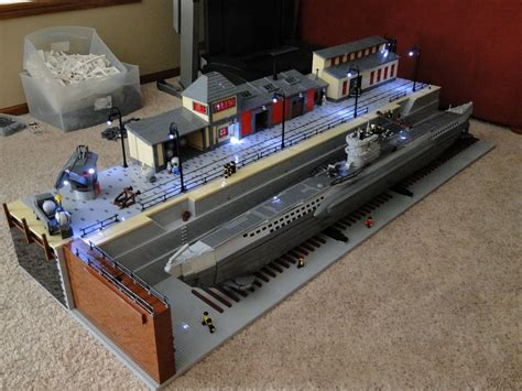 lego boat with engine lego type viic u boat in drydock lego lego and more