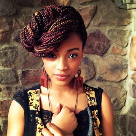 nappy box hairstyle from different angles even angle box braids nigerian africa hairstyles
