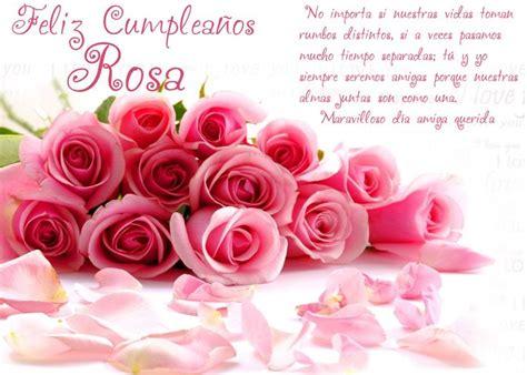 Imagenes Feliz Cumpleaños Rosa | feliz cumplea 241 os rosa happy birthday my friend pinterest