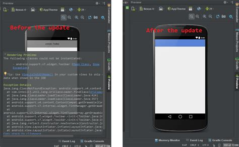android support v7 java the following classes could not be instantiated android support v7 widget toolbar