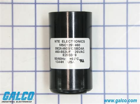 nte motor start capacitor msc125v460 nte electronics motor start capacitors galco industrial electronics