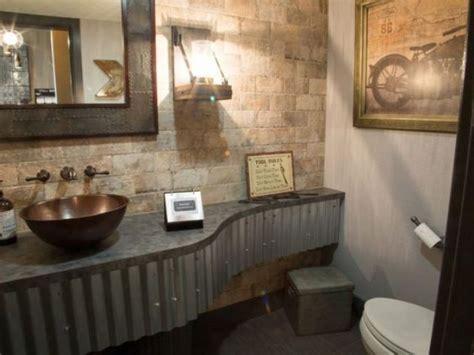 Corrugated Metal Bathroom by 32 Trendy And Chic Industrial Bathroom Vanity Ideas Digsdigs