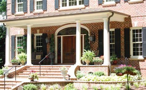Hip Roof Colonial House Plans Porch Roof Designs Front Porch Designs Flat Roof Porch