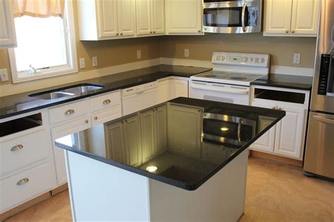Black Pearl Granite White Cabinets by Black Pearl Granite Countertops With White Cherry Cabinets