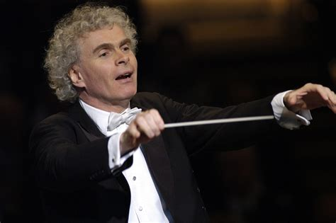 Conservatory Of Music concert for the cure about sir simon rattle